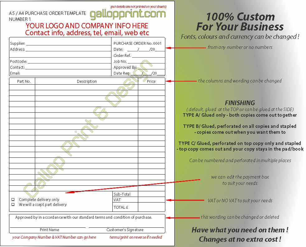 ncr label templates - gallop print design ncr templates